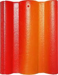 Ngói Nakamura hai màu MS008 ( Màu đỏ cam )
