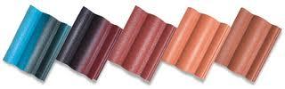 Ngói lợp màu Lama MS002 ( Màu xanh đen , đen nâu , đồng , nâu )