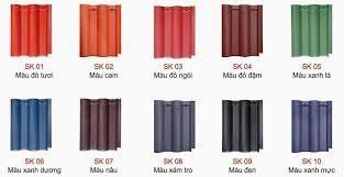 Ngói màu Đồng Tâm MS001 ( Màu xanh , đen , nâu …. )