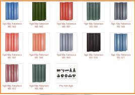 Ngói màu Nakamura MS009 ( Nhiều màu  )