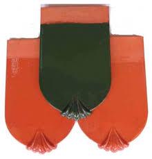 Ngói tráng men Đồng Nai MS015 ( Màu xanh , đỏ )