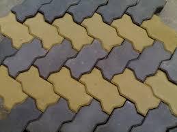 Gạch vỉa hè MS005 ( Màu vàng xám )