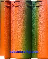 Ngói Nakamura sóng nhỏ MS003 ( Màu đỏ xanh lá )