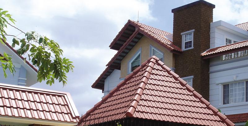 Ngói màu Đồng Tâm mang đến ch bạn ngôi nhà nhiều màu sắc.